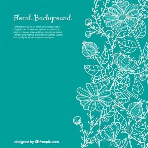 Undangan Vintage Colour floral background vector free