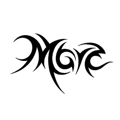 tribal tattoo names tribal letter m designs best 2017