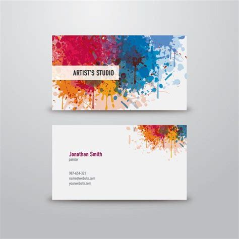 Business Card Artist Template by Best 25 Artist Business Cards Ideas On