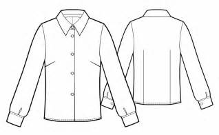 Shirt Technical Drawing Classical Blouse Sewing Sketch Coloring Page sketch template