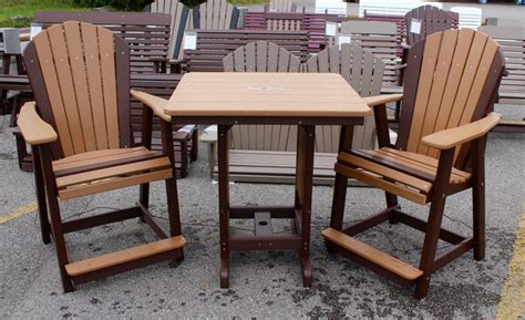 adirondack table and chairs poly 33 square counter height table and adirondack
