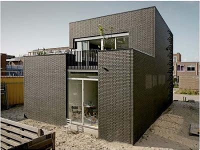 textured front facade modern box home house ijburg textured brick wall facade interior home design