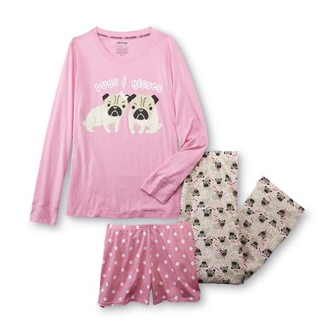 pug pajamas joe boxer s pajama shirt shorts pugs kisses