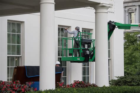 the white house s gleaming new renovations include trump in pictures the oval office and west wing after