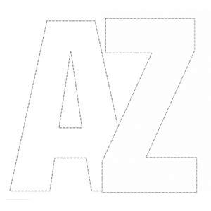 cut out alphabet a z