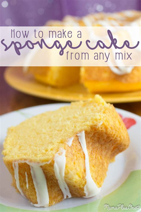 How to Make Sponge Cake from Cake Mix!