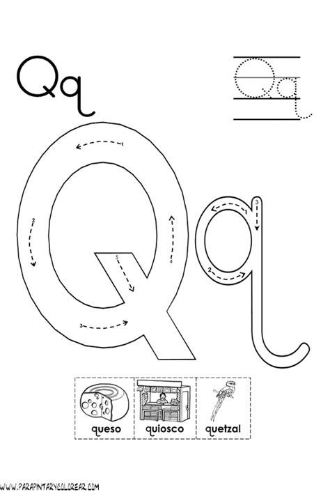 palabras con la letra q q ejemplos de palabras con q abecedario para colorear letra q