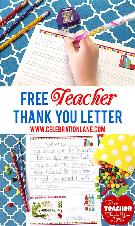 thank you letter to end of year free thank you letter gift idea giggles galore