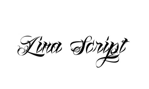 lina script tattoo font generator ultimate collection of cursive tattoo fonts colorlap
