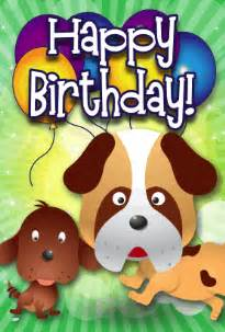 dogs birthday card