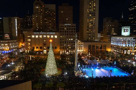 photos of christmas in san francisco from union square to