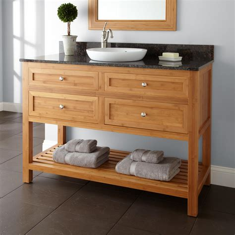 Bamboo Vanity Bathroom 48 Quot Thayer Bamboo Vanity For Undermount Sink Bathroom Vanities Bathroom