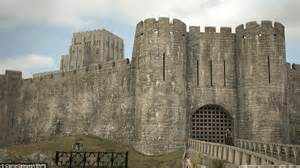 historical castles english civil war damages to corfe castle digitally