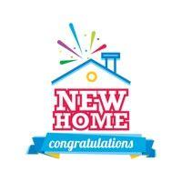 congratulations    home label vector image