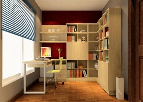 design for study room bookcase with background wall