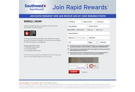 Rapid Rewards Gift Cards - 200 free my coke rewards for joining southwest rapid rewards free 10 dominoes gift