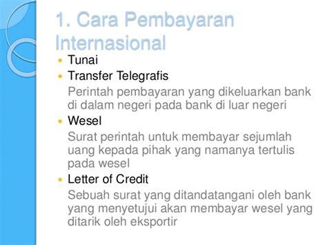 Letter Of Credit Kurs 14 perdagangan internasional