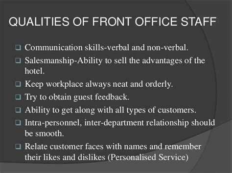Qualities Of A Front Desk Officer Front Office Of Hotel