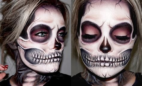 Makeup Sk Ll skeleton skull makeup tutorial fox