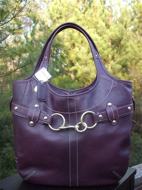 Coach Ergo Belted Leather Medium Purse by Coach Ergo Plum Leather Belted Large Tote 11265 Purseforum