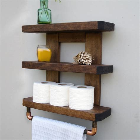 Rustic Bathroom Shelves Wooden Bathroom Shelves