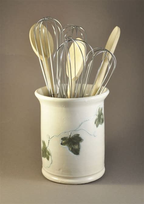 kitchen utensil holder custom kitchen utensil holder by eden pottery custommade com