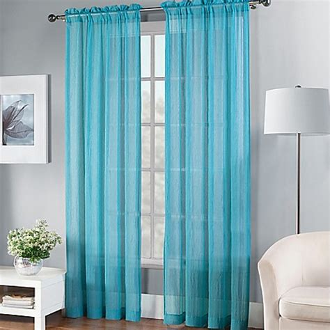 fiesta curtains fiesta 174 sheer window curtain panel bed bath beyond