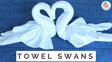Swan Towel Origami - how to fold a towel animal swan towel folding 2 birds