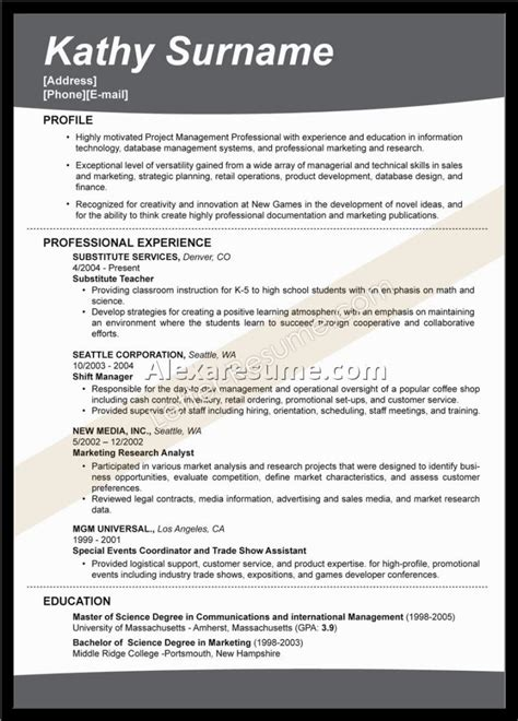 great resume templates exles of resumes 81 wonderful great resume for