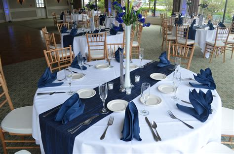 navy blue white buffalo wedding decor ideas gala inc