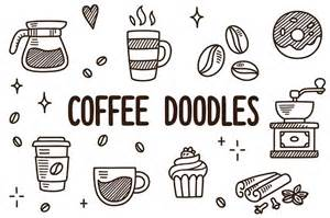 vector coffee doodles illustrations creative market