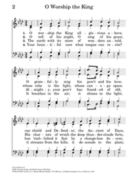O Worship the King all glorious above | Hymnary.org