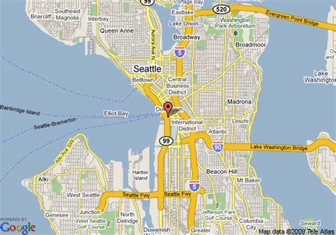 seattle map pioneer square map of best western pioneer square hotel seattle