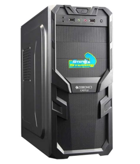 Computer Cpu Cabinet Price Zebronics Black Castle Computer Cabinet Zeb 518b Available