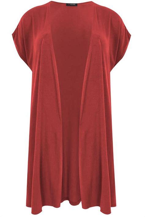 Atasan Kelelawar Jersey 7 Maroon burgundy extended shoulder jersey cardigan plus size 16 to 32