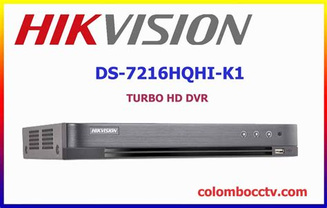 Dvr Hikvision Ds 7216 Hqhi K1 Hd Up To 3mp Termurah Garansi Resmi hikvision ds 7216hqhi k1 cctv s dvr nvr in sri lanka