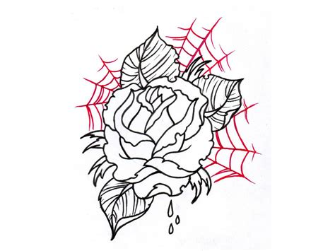 spider rose tattoo spider web designs unique spider web designs