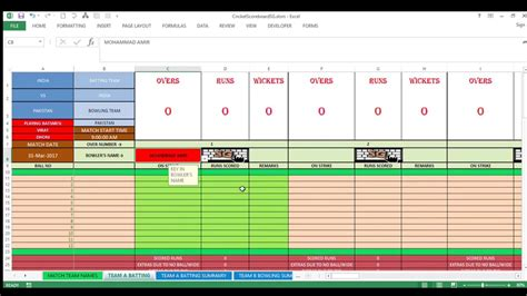 scoreboard excel template best cricket scoreboard in ms excel for tournaments