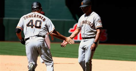 bumgarner is a pitcher and currently mlb s home