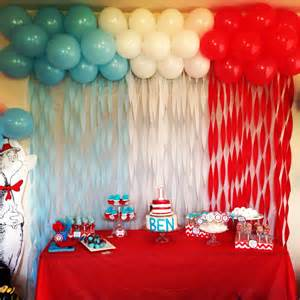 background decoration for birthday party at home dr suess birthday party school pinterest