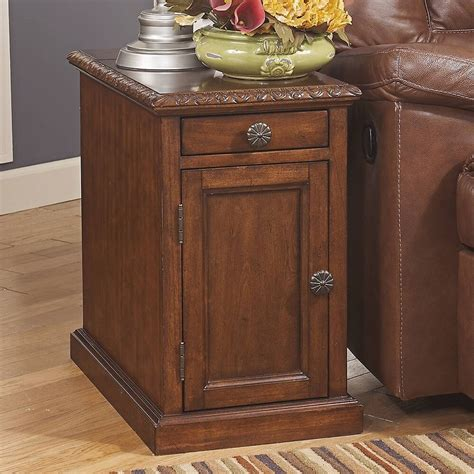 ashley furniture laflorn chair side  table dark brown    ebay