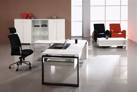 white modern office desk