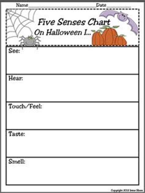 5 senses writing template kindergarten trick or treat on kindergarten