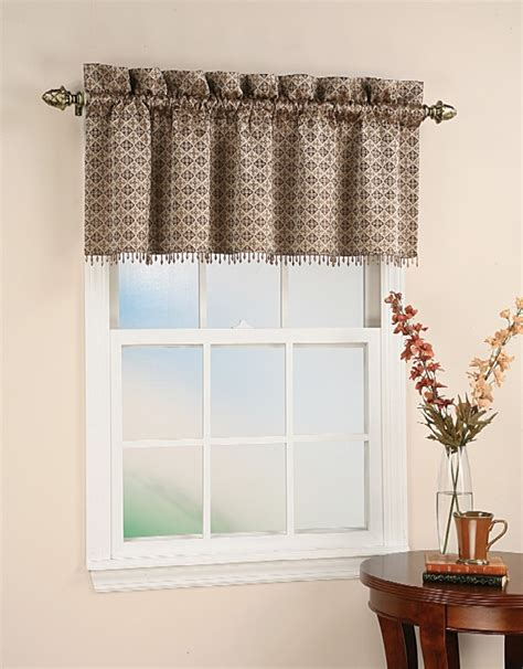 beaded window curtains moroccan tile motif beaded curtain valance chocolate ebay