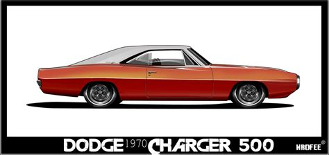 1970 dodge charger toon by wrofee on