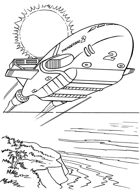 thunderbird template thunderbirds coloring pages coloringpages1001
