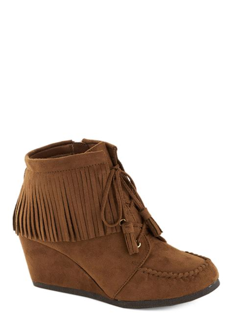 fringe booties friends with fringe bootie mod retro vintage boots