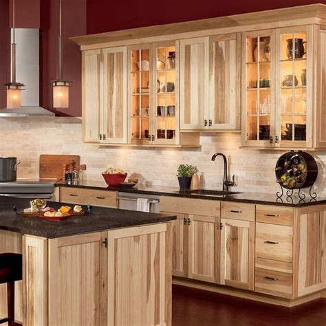 best 25 hickory cabinets ideas on craftsman kitchen wood cabinets and kitchen tile