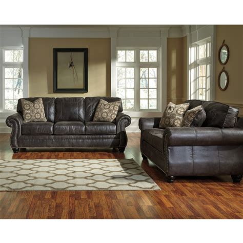 livingroom gg benchcraft breville living room set in charcoal faux leather fbc 8009set ch gg by flash