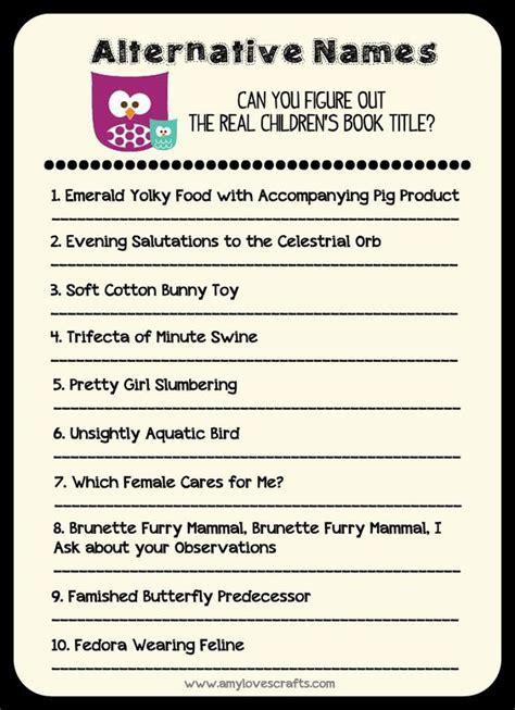 Baby Shower Titles by Children S Book Alternative Names Baby Shower